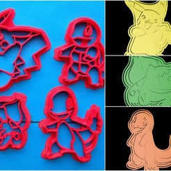 3D print files Pokemon cookie cutter set , davidruizo