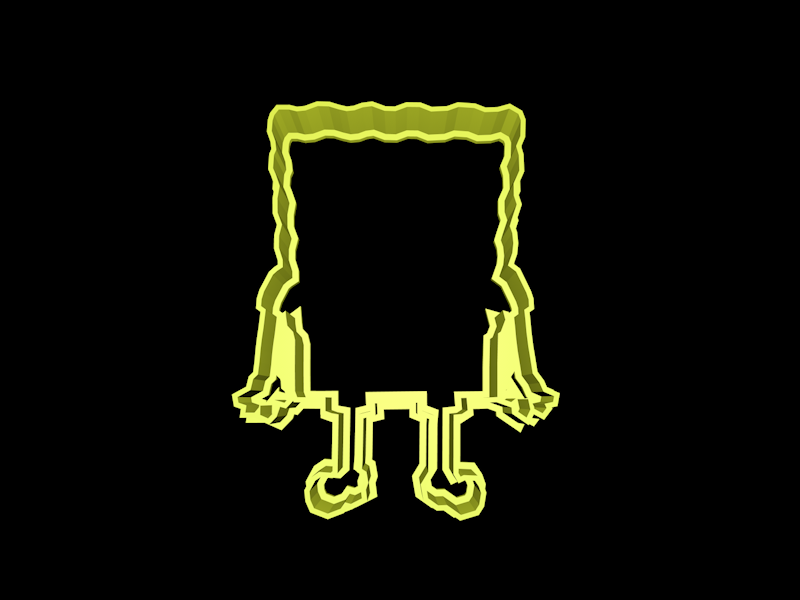 bob.png Download STL file Spongebob Squarepants cookie cutter set • Object to 3D print, davidruizo