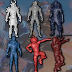 3d print files Fortnite 3D characters set, davidruizo