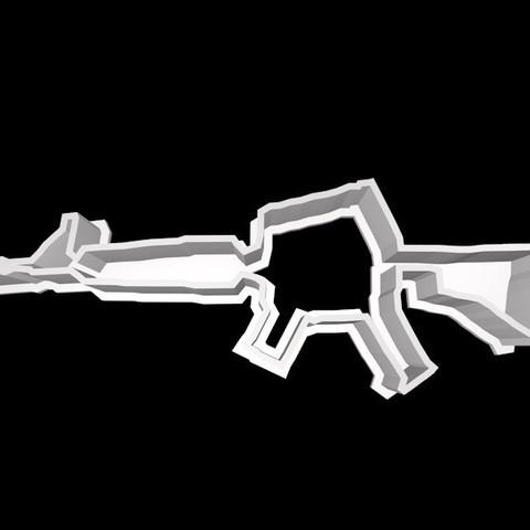 m4.jpg Download STL file Fortnite Cookie Cutter Set • 3D printing template, davidruizo