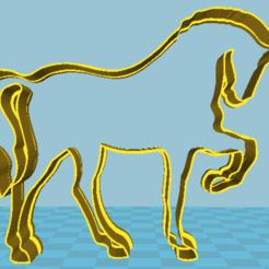 3d printer model Horse cookie cutter, davidruizo
