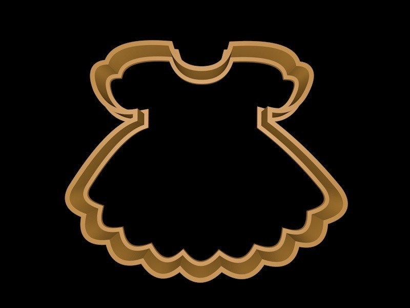 vestido bebe.jpg Download STL file Baby clothes cookie cutter set • 3D printable template, davidruizo
