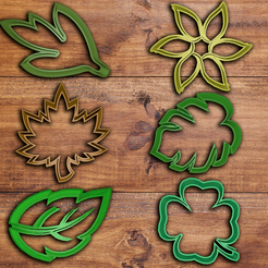 3D print model Plants and Leafs Cookie Cutter Set , davidruizo