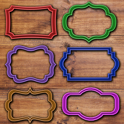Download 3D printing files Vintage Frame cookie cutter set, davidruizo