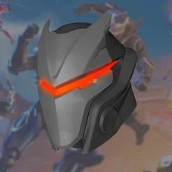 3d model Omega mask Fortnite, davidruizo