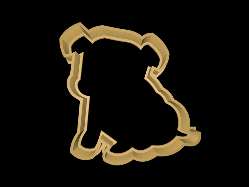 doggie2.png Download STL file Dog cookie cutter set • 3D printing design, davidruizo