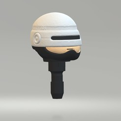 Download free 3D printer designs Playmobil Robocop Head, madsoul666