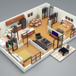 Download free STL file 1:24 Home Floorplans (Playmobil) • 3D printing template, madsoul666
