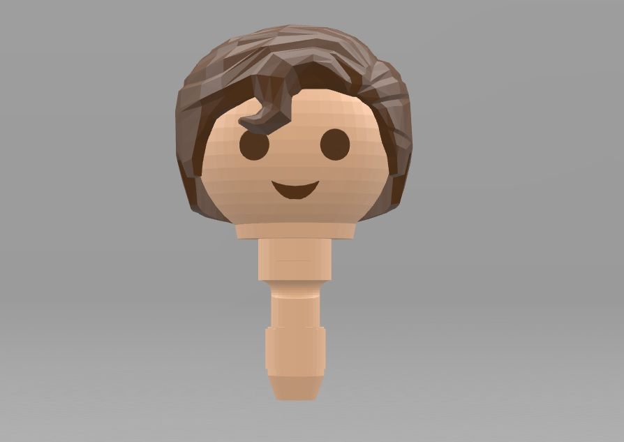 Superman_Hair.jpg Download free STL file Playmobil Superman Hair (Remixed from johnmcwGeo design) • 3D print template, madsoul666