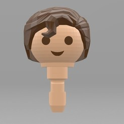 Descargar modelos 3D gratis Playmobil Superman Hair (Remixed from johnmcwGeo design), madsoul666