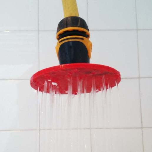 Download free 3D model A shower where you want with hose coupler, madsoul666