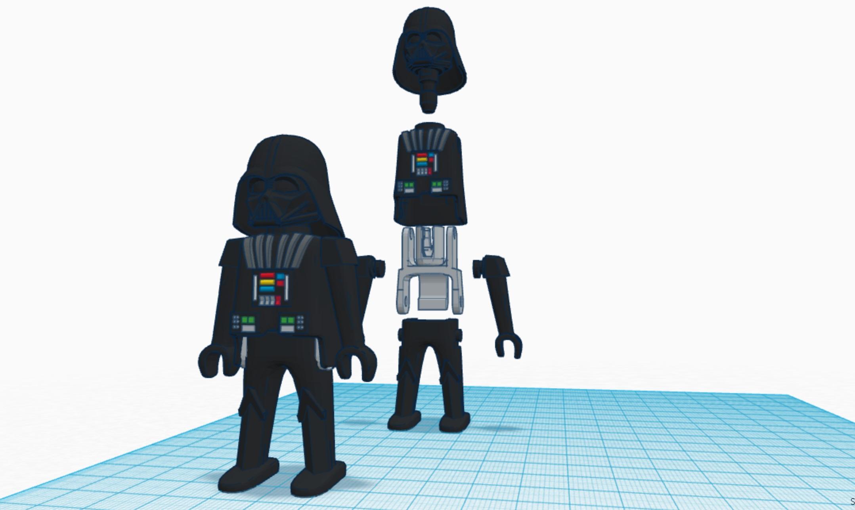 Imagen.jpg Download free STL file Darth Vader Playmobil • 3D printable object, madsoul666
