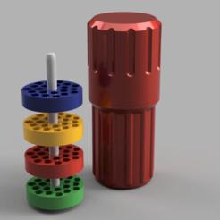 0.png Download free OBJ file Screwdriver bits cylindrical case (Dagongar Remix) • 3D printer model, madsoul666