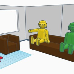 Download free STL file Armchair and sofa for Playmobil, madsoul666