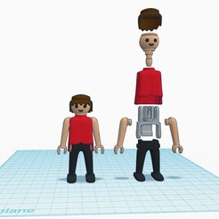 Download free STL file Articulated Playmobil • 3D printing design, madsoul666