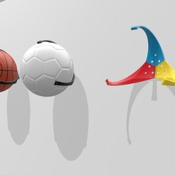 Diseños 3D gratis Wall Ball Holder, madsoul666