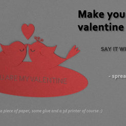 Download free 3D printer model VALENTINES DAY CUSTOM CARD, xkiki