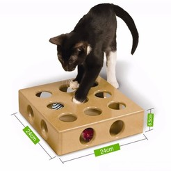 Download free 3D printing templates Hide & Seek cat toy :) VERSION 2 /MINIMAL SUPPORT, xkiki
