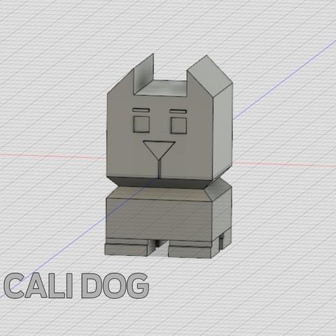 cali-dog.jpg Download free STL file Cali Dog - The Calibration Dog • 3D printable model, xkiki
