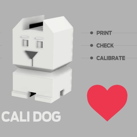 Free STL files Cali Dog - The Calibration Dog, xkiki