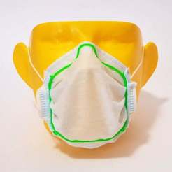 Download free 3D printing designs Surgical Mask Frame, ecoiras