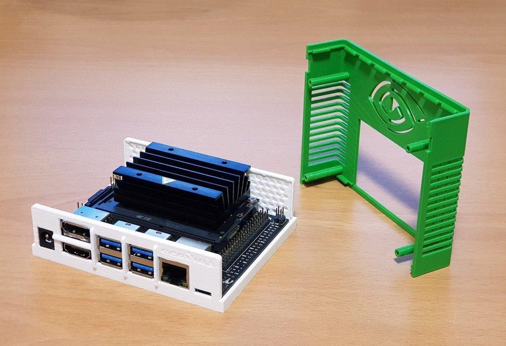 7755c87fcf3a4dbcc9e63b8c16bd3341_display_large.jpg Télécharger fichier STL gratuit Étui Jetson Nano • Objet pour imprimante 3D, ecoiras