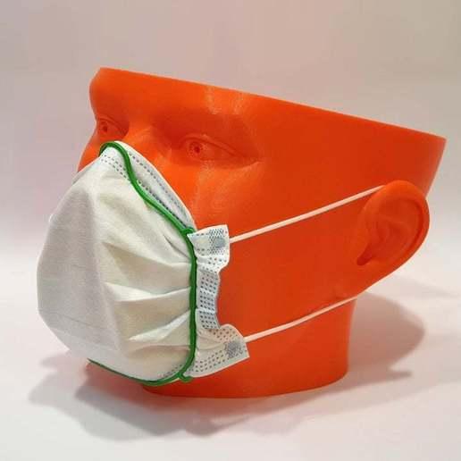 surgicalMaskFrame_v2_1.jpg Download free STL file Surgical Mask Frame v2 • 3D printing object, ecoiras