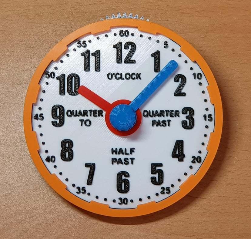 geared_learning_clock.jpg Télécharger fichier STL gratuit Horloge d'apprentissage à engrenages • Modèle à imprimer en 3D, ecoiras