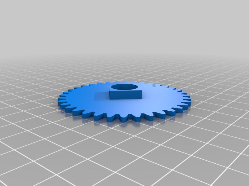 gear3.png Télécharger fichier STL gratuit Horloge d'apprentissage à engrenages • Modèle à imprimer en 3D, ecoiras