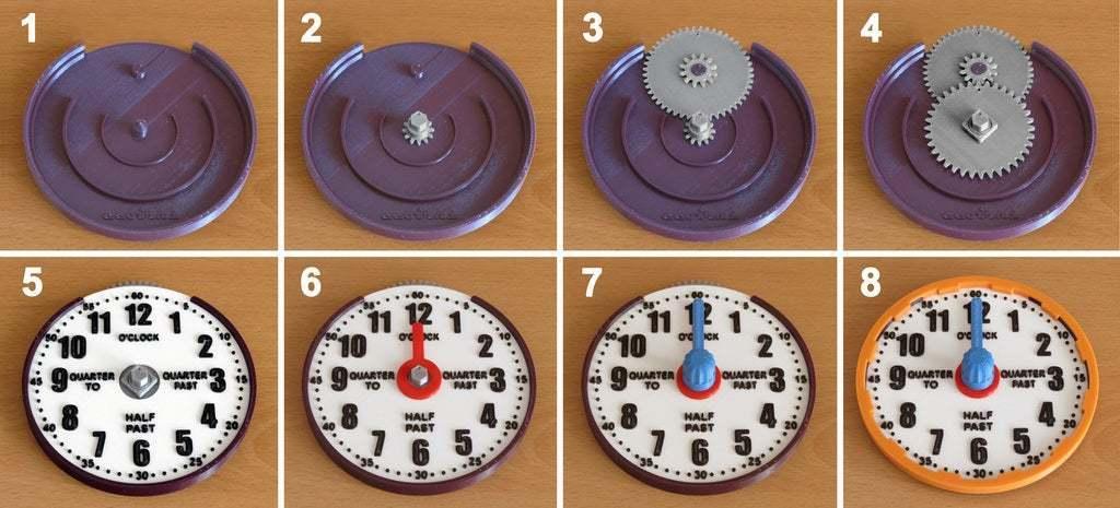 how_to_assemble.jpg Télécharger fichier STL gratuit Horloge d'apprentissage à engrenages • Modèle à imprimer en 3D, ecoiras