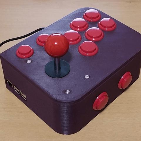 Free 3D printer model Ultimate Retropie Joystick Controller -- Remix, ecoiras