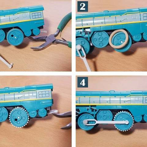 Download free 3D printer designs TOMY to TrackMaster Tire Conversion, ecoiras