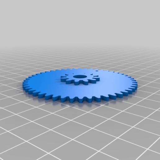 gear2.png Télécharger fichier STL gratuit Horloge d'apprentissage à engrenages • Modèle à imprimer en 3D, ecoiras