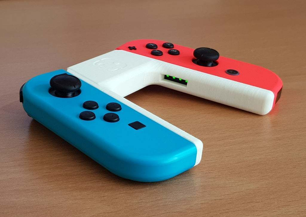 supportless_joycon_grip.jpg Download free STL file Supportless Joycon Grip with LED Windows • 3D printer object, ecoiras