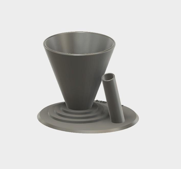 pot trombone.jpg Download STL file Paperclip Pen Case / Holder for Desk • 3D printing model, AlDei