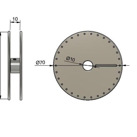 bobine fil mesures.jpg Télécharger fichier STL gratuit Empty Roll for enamel copper wire • Modèle pour imprimante 3D, AlDei