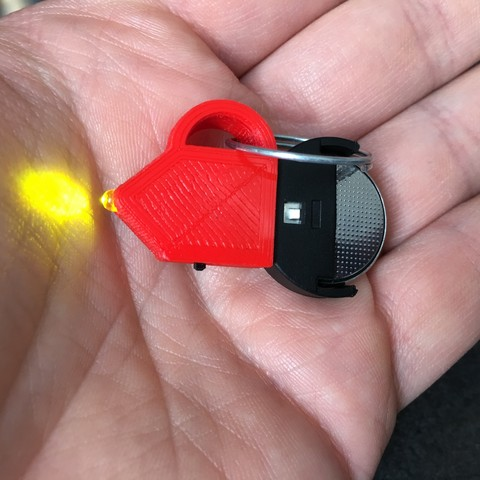 IMG_9789.JPG Download STL file Keychain Mouse led light / Keychain Led mouse (stack 2032) • Design to 3D print, AlDei