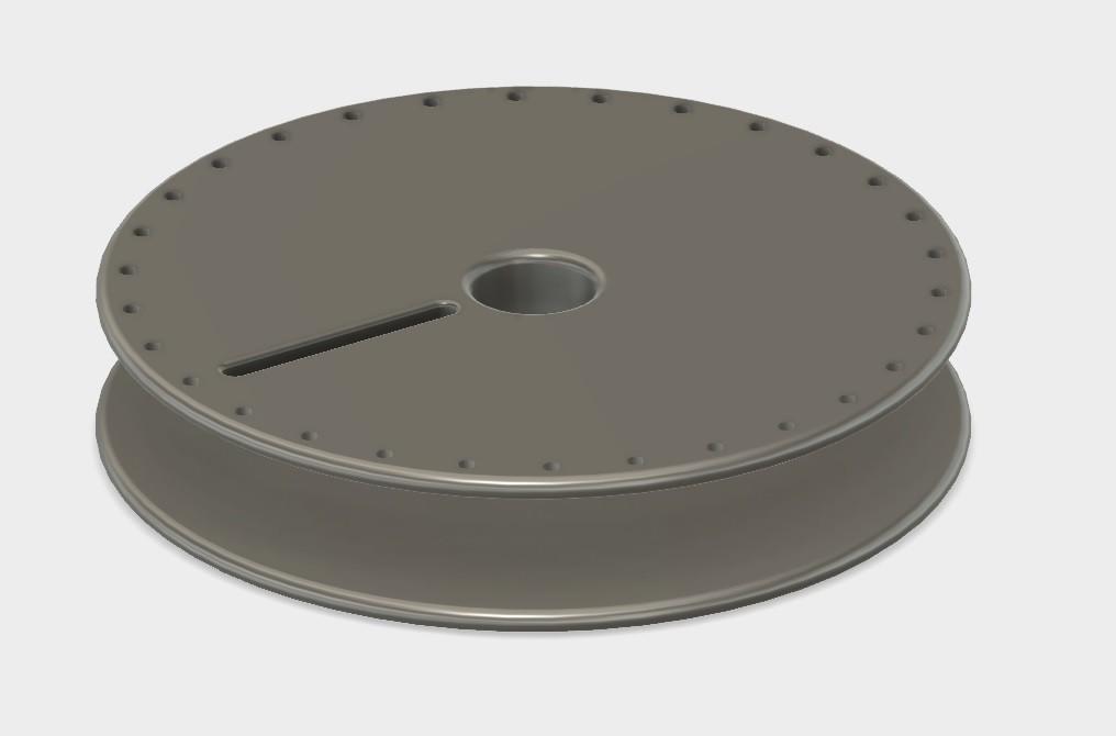 bobine fil électrique.jpg Télécharger fichier STL gratuit Empty Roll for enamel copper wire • Modèle pour imprimante 3D, AlDei