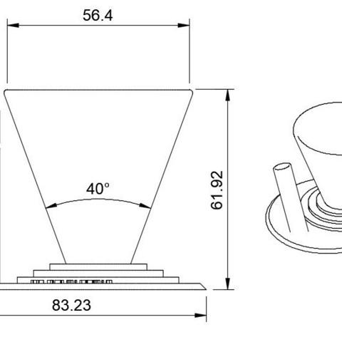 mesures support.jpg Download STL file Paperclip Pen Case / Holder for Desk • 3D printing model, AlDei