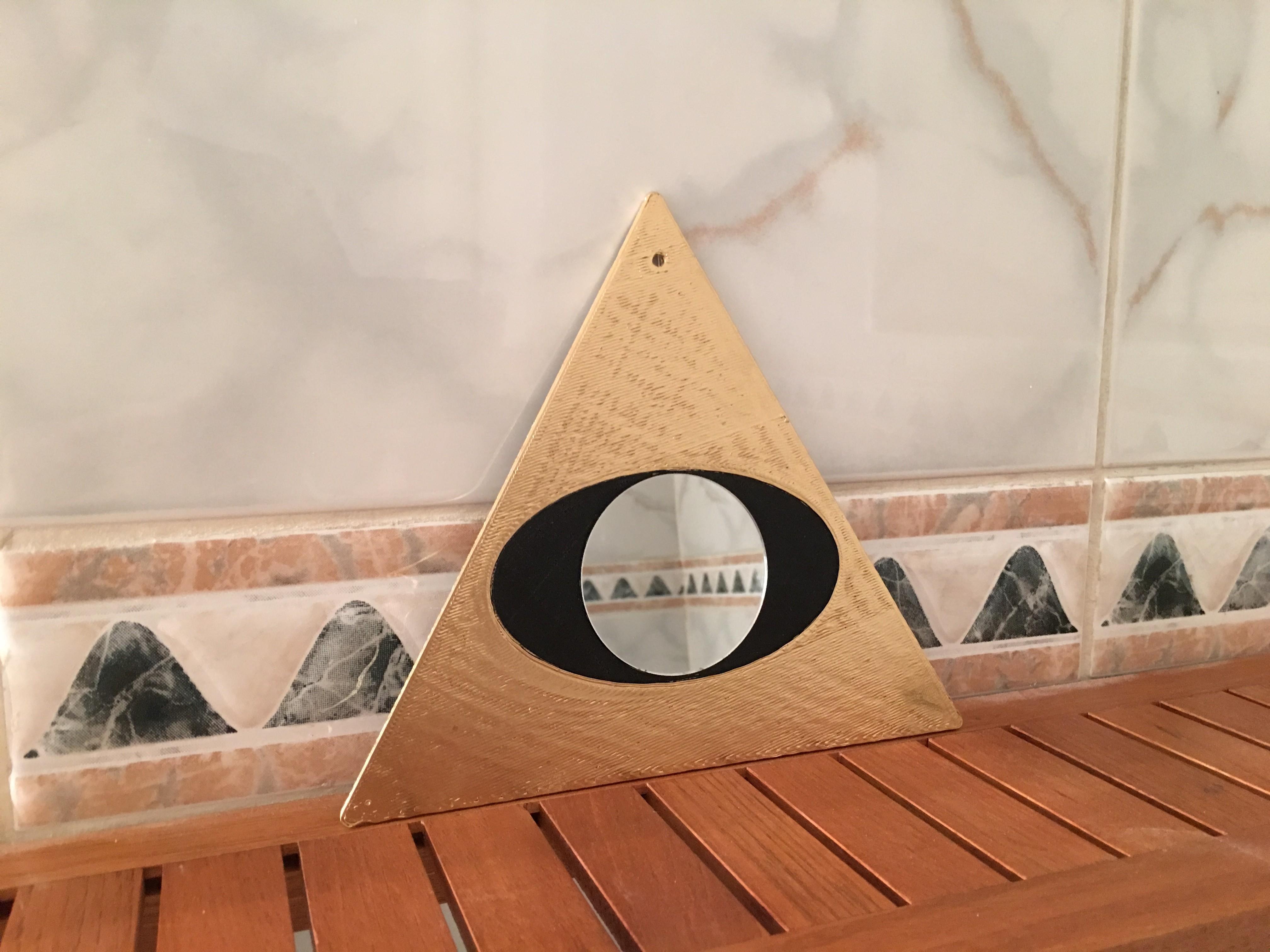 5.JPG Télécharger fichier STL gratuit Freemason Mirror • Plan à imprimer en 3D, AlDei