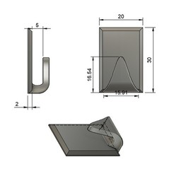 Download free STL file Bracket / Hook for kitchen, garage, ... • 3D print template, AlDei
