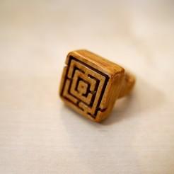 1HFZ05400.JPG Download STL file A Maze(in) Ring • 3D printing model, henriquefz