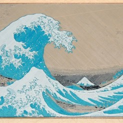 Download free 3D printer designs The Great Wave off Kanagawa, JayOmega