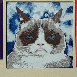 GC_01.jpg Download free STL file Grumpy Cat • 3D printer object, JayOmega