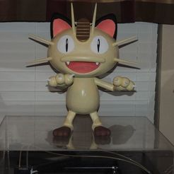 Meowth_AA.jpg Download free OBJ file Life-Sized Meowth • 3D print model, JayOmega