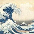 Tsunami_by_hokusai_19th_century.jpg Download free STL file The Great Wave off Kanagawa • Design to 3D print, JayOmega