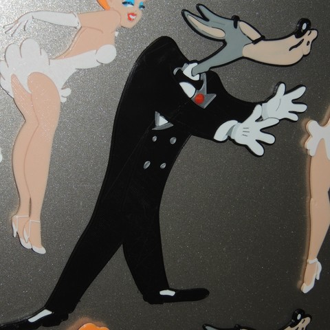 DSCN2429.JPG Download free STL file Wolf - Swing Shift Cinderella, Tex Avery • Template to 3D print, JayOmega