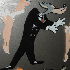 Download free STL file Wolf - Swing Shift Cinderella, Tex Avery • Template to 3D print, JayOmega