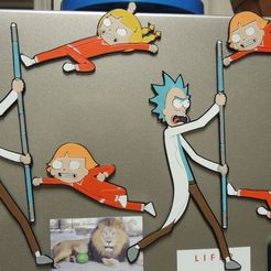 Download free 3D model Rick Sanchez vs. Kiddie Assassins - Rick and Morty, JayOmega