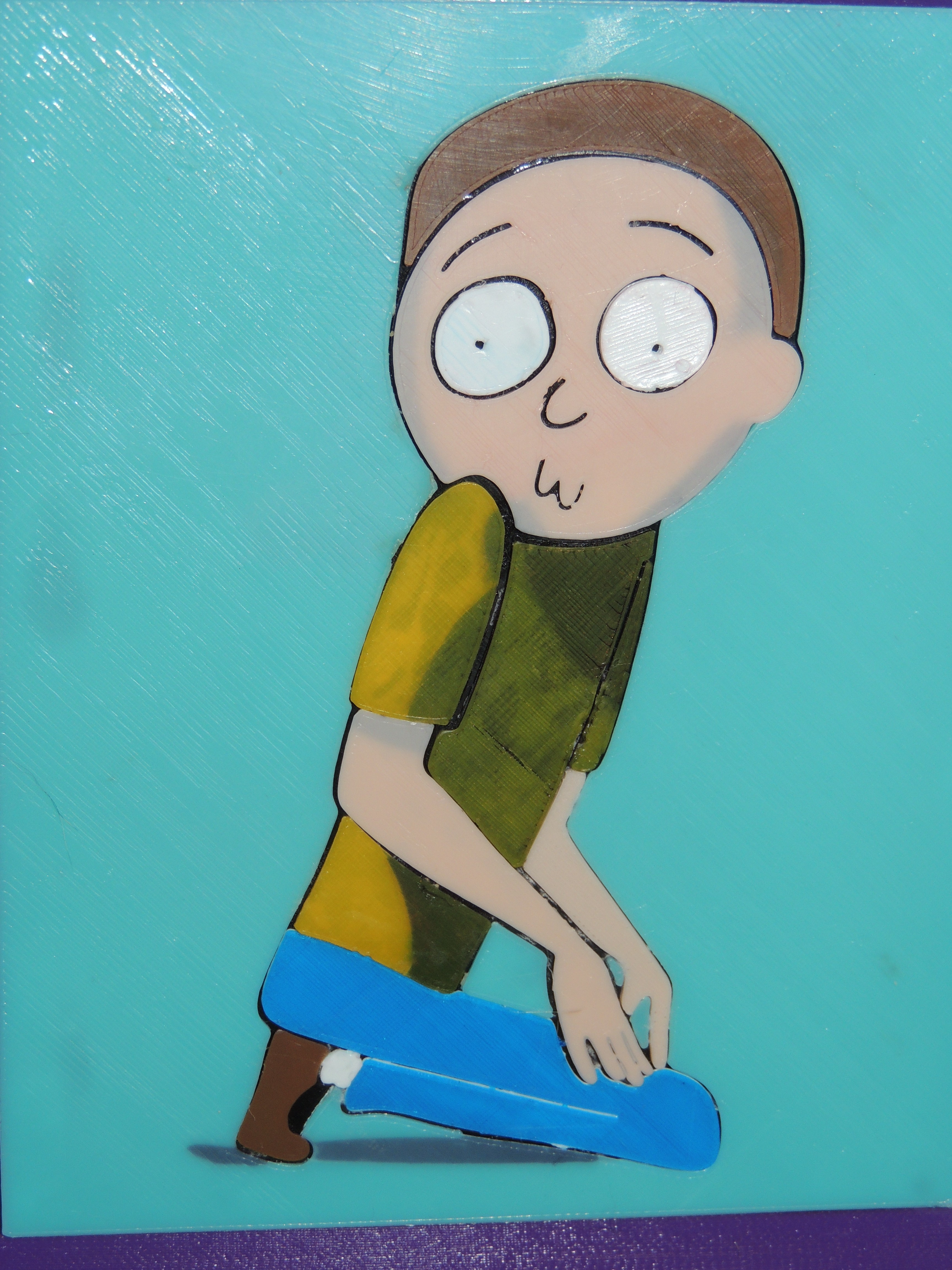 DSCN2451.JPG Download free STL file The Creepy Morty Painting - Rick and Morty • 3D printable object, JayOmega